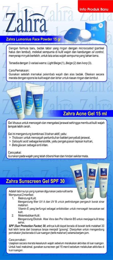 Produk Baru dari Zahra Halal Cosmetics